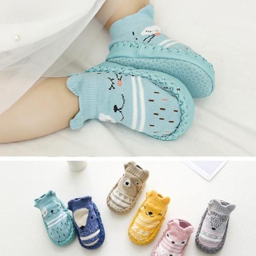 童學步鞋襪 韓版嬰兒卡通皮底鞋襪 防滑地板船襪 B7A004 AIB小舖