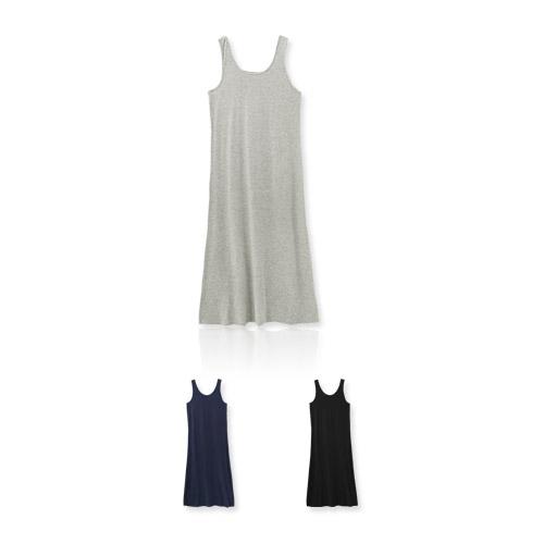 MIUSTAR 正韓.韓國素色彈性涼感棉質洋裝(共3色)【NH0583GW】預購