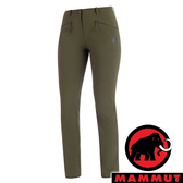【MAMMUT 長毛象】女 Trekkers 2.0 防潑水軟殼長褲『綠鬣蜥』1021-00420 戶外 休閒 釣魚褲 登山 運動褲