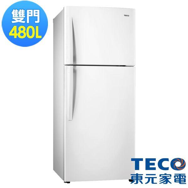 東元480L變頻雙門冰箱R4877XW