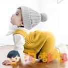 寶寶背帶褲兒童吊帶褲子嬰兒針織毛線長褲秋冬【淘嘟嘟】