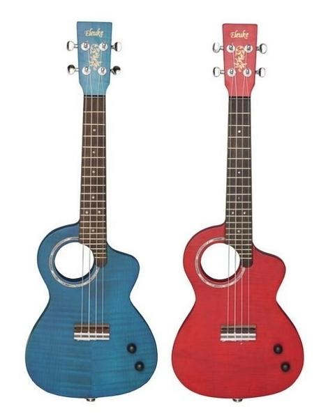 ☆ 唐尼樂器︵☆ Eleuke SL-2 26吋 玫瑰木 電烏克麗麗(Aquila 弦/附原廠高級厚琴袋/紅藍兩色可選)