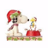 聖誕禮物《Enesco精品雕塑》SNOOPY與糊塗塌克聖誕拐杖糖塑像-Candy Cane Christmas_EN91763