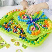 蘑菇釘拼圖兒童益智玩具1-3-6周歲 cf