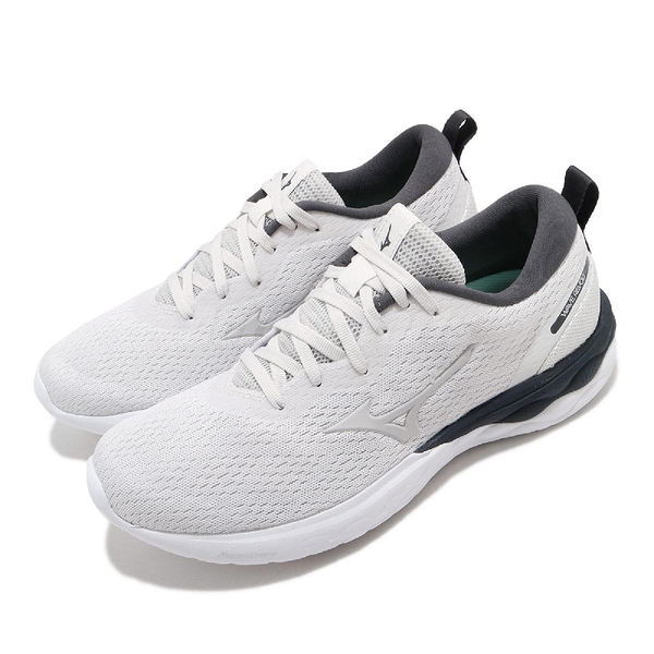 Mizuno 慢跑鞋 Wave Revolt 灰 白 女鞋 運動鞋 【ACS】 J1GD2081-46