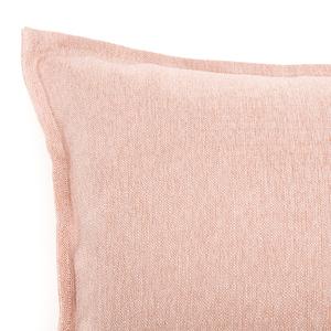 HOLA 新素色織紋抱枕60x60cm 梅粉色