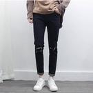 找到自己品牌 2017 男生 時尚百搭九分褲 休閑小腳褲 韓版修身牛仔褲