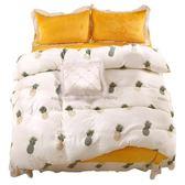 【雙十二】預熱法蘭絨四件套冬季珊瑚絨水晶絨床單被套被罩三件套女網紅床上用品     巴黎街頭
