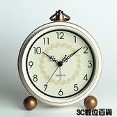 鬧鐘 歐式座鐘臺鐘客廳美式大號臺式鐘表擺鐘復古家用坐鐘時鐘桌面擺件 3C數位百貨