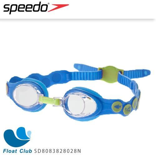 【SPEEDO】兒童款泳鏡 Sea Squad 2-6歲適用 (藍/綠) SD8083826981N