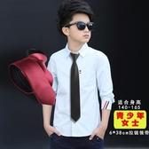 少年版學生領帶小孩畢業照學院風校服領帶免打拉錬兒童小領帶黑色促銷好物