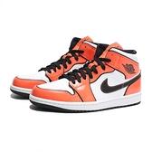 NIKE 籃球鞋 AIR JORDAN 1 TURF ORANGE AJ1 橘白 漆皮 男 (布魯克林) DD6834-802