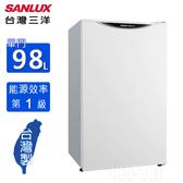 SANLUX台灣三洋 98公升1 級能效單門小冰箱 SR-C98A1~含拆箱定位