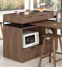 【森可家居】諾艾爾4尺中島型收納櫃 (不含邊桌) 8CM905-2 餐櫃 廚房櫃 中島 碗盤櫃 木紋質感 工業風