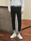 找到自己 品牌 時尚休閒 男士 簡約潮流 素面 水洗牛仔長褲