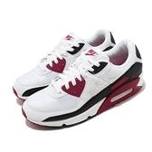 Nike 休閒鞋 Air Max 90 白 紅 黑 男鞋 皮革鞋面 氣墊 運動鞋 【ACS】 CT4352-104