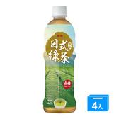 J-金車日式風味綠茶580ML x 4【愛買】