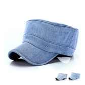 軍帽-牛仔布純色復古做舊生日情人節禮物男女鴨舌帽3色73da31【時尚巴黎】