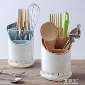 家用筷子架勺子置物收納架塑料筷子筒廚房餐具創意筷托瀝水筷子籠WD 雙十一全館免運
