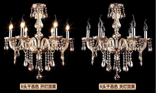 設計師美術精品館幹邑色水晶燈 水晶吊燈 客廳燈 餐廳燈 K9水晶燈 電度水晶燈 6頭