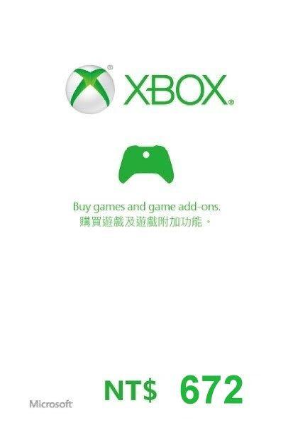 【微軟禮物卡】☆ 672元 LIVE Xbox ONE WP8.1市集專用Microsoft Points 非 500 1000 【台中星光電玩】