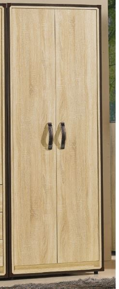 【森可家居】溫蒂2.5尺橡木紋雙吊衣櫃 7JF051-5衣櫥 木紋質感 北歐工業風 MIT台灣製造