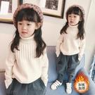 女童高領毛衣白色套頭秋冬2020新款加厚韓版兒童針織衫中童打底衫 小山好物