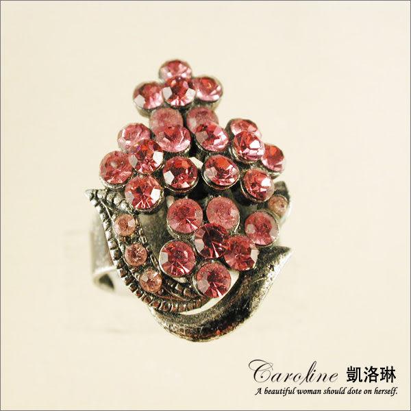 《Caroline》★韓國進口甜心可愛設計施華洛世奇水晶造型戒指【可調整型】39779