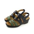 Moonstar 涼鞋 深藍/綠色 女鞋 no054