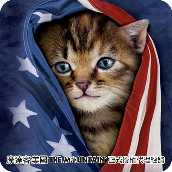 【摩達客】(預購)美國進口The Mountain 愛國小貓 短袖女版T恤精梳棉環保染(12516045037a)