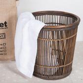 天然竹藤編織竹筐 家居用品收納筐垃圾桶 酒店毛巾筐 辦公室紙籮·Ifashion IGO