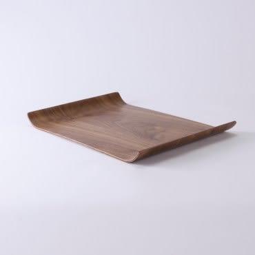 漢斯胡桃木雙邊托盤 36x25cm