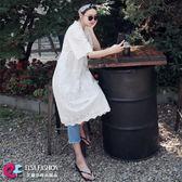 平口洋裝 極致柔和刺繡鏤空蕾絲V領連身裙+吊帶裙兩件套 艾爾莎【TGK5145】