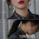 耳環 甜酸ulzzang時尚冷淡風耳環超仙大圓圈圈夸張百搭圓形環耳飾品女 古梵希