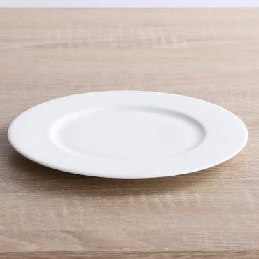 HOLA home 緻白骨瓷平口平盤27cm
