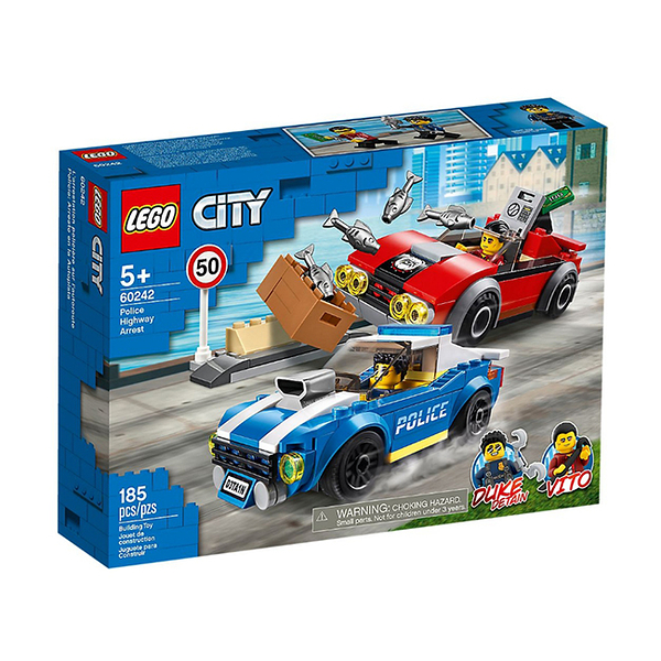 60242【LEGO 樂高積木】城市系列 City-警察高速公路追捕戰