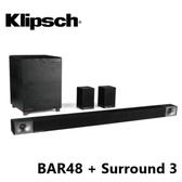 (雙12暖身) Klipsch 古力奇 Soundbar BAR-48 + Surround 3 無線環繞喇叭 5.1聲道劇院組
