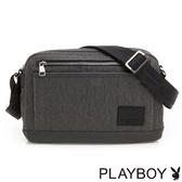 PLAYBOY- 斜背包 GENTLE系列-斜紋灰