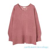 「Hot item」後開衩V領落肩剪裁針織衫 - earth music&ecology