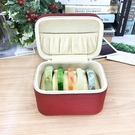 玉手鐲盒子高檔絨布便捷首飾盒手鐲收納箱玉牌項錬韓式手鐲盒翡翠 設計師