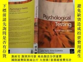 二手書博民逛書店Psychological罕見Testing a manager