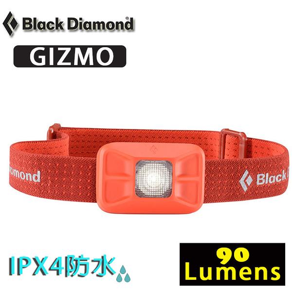 Black Diamond BD 620623-OCTN橘色 Gizmo 防水LED頭燈 /輕量電子燈/照明燈/90流明