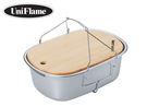 丹大戶外【UNIFLAME】不鏽鋼洗槽附鉆板6L/水果洗碗槽/雜物籃/收納籃/水桶/提籃 U660416