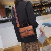 斜挎小包包女2019新款百搭ins高級感洋氣寬肩帶手提單肩時尚女包   圖拉斯3C百貨