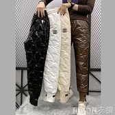 棉褲羽絨褲女 輕薄羽絨棉褲女冬新款外穿時尚束腳加絨加厚高腰顯瘦保暖褲潮 快速出貨