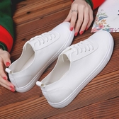 大碼運動鞋 皮面小白鞋百搭韓版板鞋42休閒大碼單鞋41-43