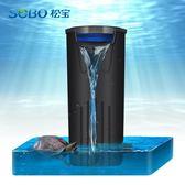 低水位魚缸過濾器 淺水烏龜缸水族箱內置抽水循環靜音泵過濾設備 JD下標免運