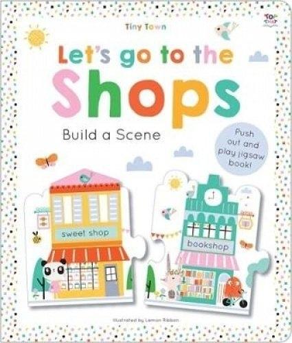【幼兒認知拼圖書】LETS GO TO SHOPS  build a scene /拼圖書《主題:購物.商店認知》
