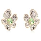 水晶耳環 925純銀(耳針式)-鑲鑽花朵生日情人節禮物女飾品5色73bd54【時尚巴黎】