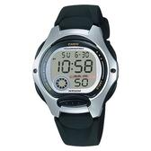 【CASIO】孩童時代十年電池電子錶-黑色銀框(LW-200-1A)